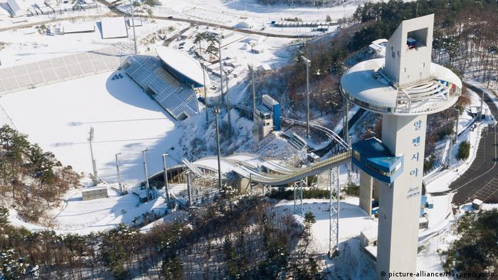 Olympische Winterspiele 2018 in Südkorea | Alpensia Sportpark (picture-alliance/Maxppp/Kyodo)