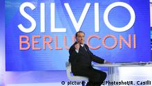 Italien TV Talkshow Silvio Berlusconi