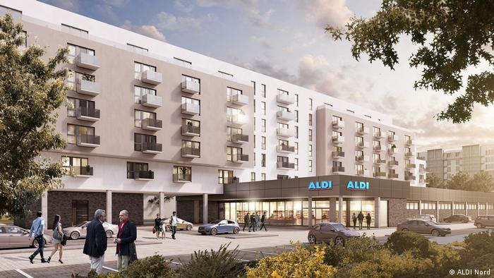 Aldi flats in Berlin artist impression