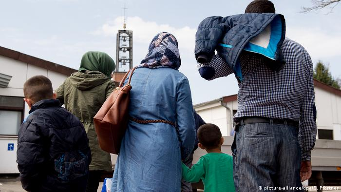A family of Syrian refugees in the German city of Göttingen