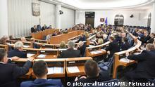 01.02.2018+++ Senators are voting during the night in Polish Senate in Warsaw, Poland, 01 February 2018. The Polish Senate backed, without any changes, a bill amending the law on the Institute of National Remembrance - Commission for the Prosecution of Crimes against the Polish Nation, passed by the Sejm (lower house) on 26 January. (js) PAP/RADEK PIETRUSZKA |
