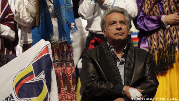 Ecuadorian President Lenin Moreno (picture-alliance/AP Photo/D. Ochoa)
