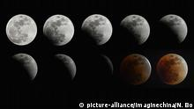 China Supermond Montage Kernschatten