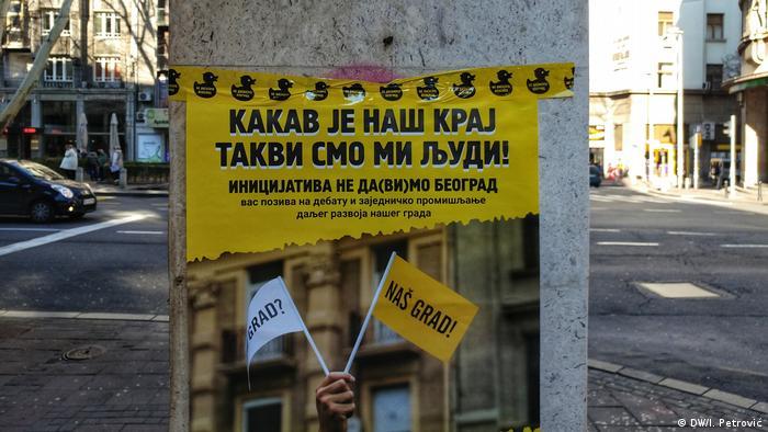 Serbien Wahlkampf in Belgrad