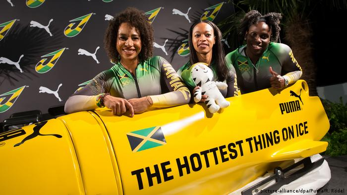 Womens' bobsled team from Jamaica