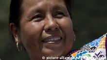In this Saturday, Oct. 14, 2017 photo, Maria de Jesus Patricio, presidential candidate for the National Indigenous Congress, campaigns for president in the Zapatista stronghold of Guadalupe Tepeyac in the southern state of Chiapas, Mexico. Patricio's supporters know the Nahua indigenous woman by her nickname, MariChuy. (AP Photo/Eduardo Verdugo) |