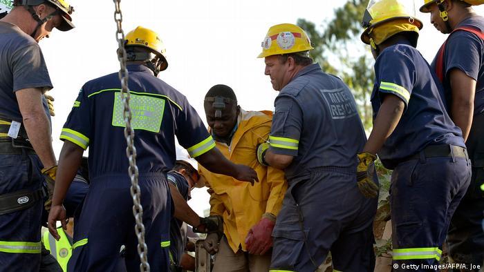 Südafrika Unfall in Goldmine