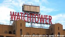 BROOKLYN, NY, USA - SEPTEMBER 8, 2013: Facade of The Watchtower building in the Dumbo area of Brooklyn, NY, USA on September 8, 2013.   Verwendung weltweit