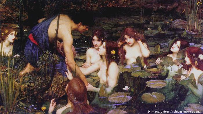 Gemälde Hylas and the Nymphs von John William Waterhouse 1896 (imago/United Archives International)