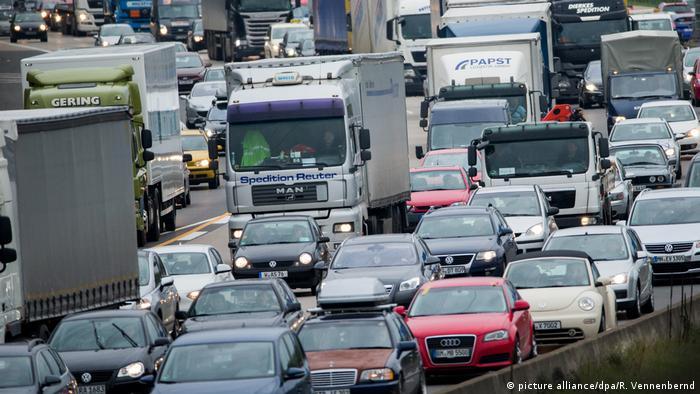 Traffic jam near Cologne