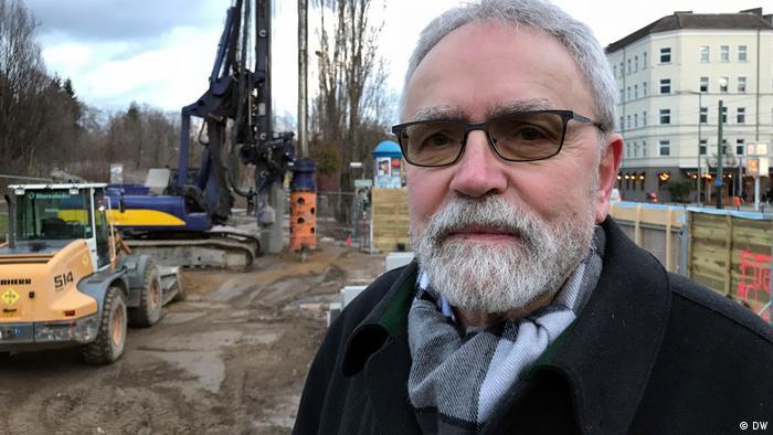 Carl-Wolfgang Holzapfel, der 1963 an der Errichtung des Tunnels mitgewirkt hat