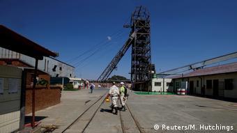 Südafrika Sibanye Goldmine Bergarbeiter