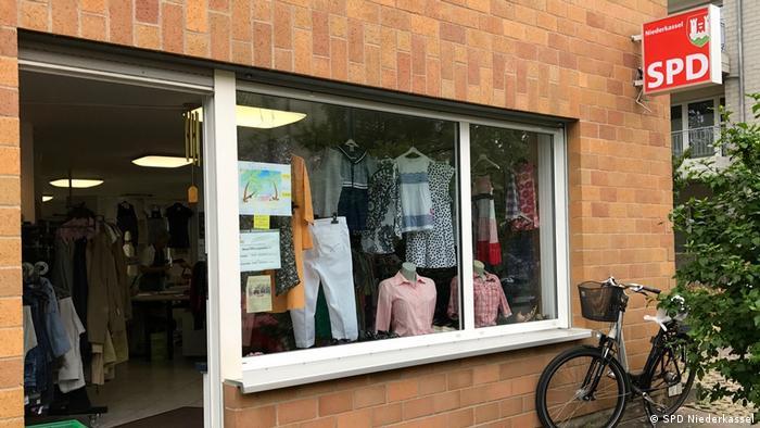 German SPD in Niederkassel   clothes store (DW/P. Hille)