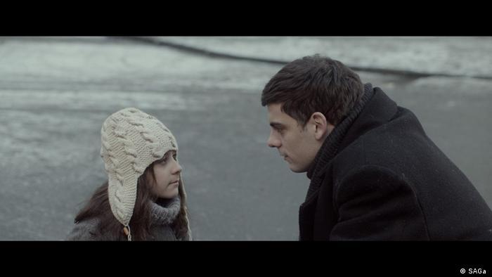 Scena iz filma Dovlatov. Eva Gerr i Milan Marić.