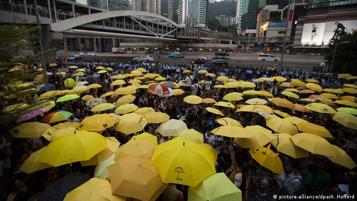 Hongkong 2015 Jahrestag Proteste (picture-alliance/dpa/A. Hofford)
