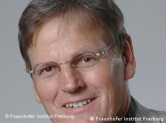 Eicke Weber, head of the Fraunhofer Institute for Solar Energy Systems in Freiburg, Germany