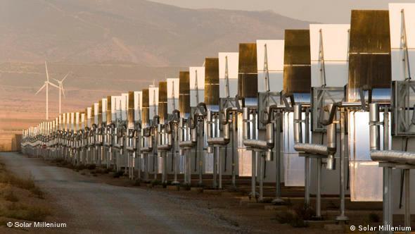 A solar facility.