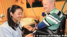 Chinesisches Pflegepersonal in Magdeburger Altenheim