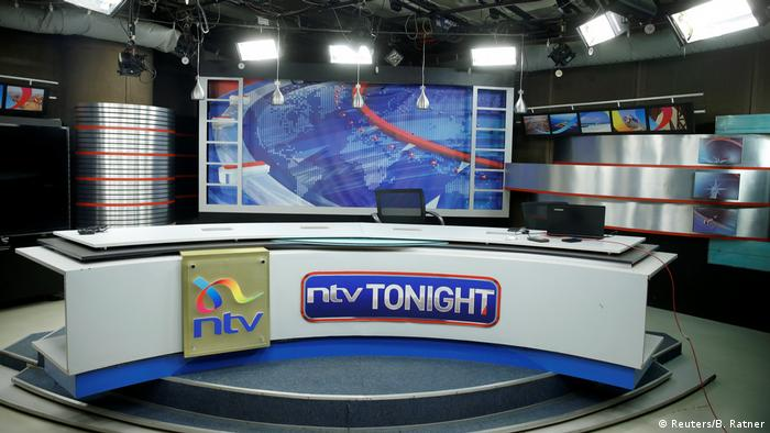 The empty NTV-TV-Channel studios in Nairobi, Kenya.
