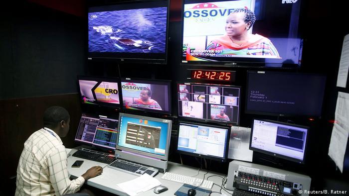 Studio of Kenyan tv channel NTV