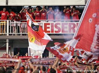 Union Berlin fans celebrate promotion to the Bundesliga's second division