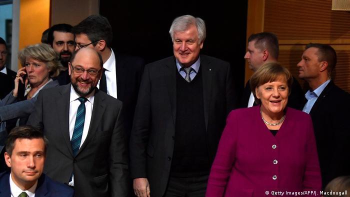 Deutschland Koalitionsverhandlungen von Union und SPD (Getty Images/AFP/J. Macdougall)