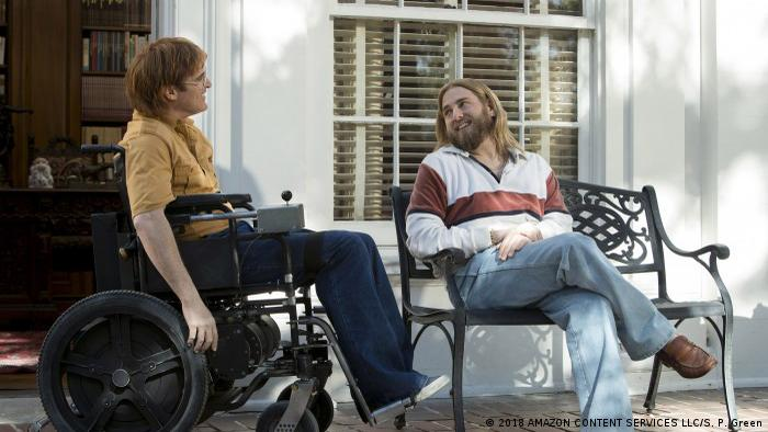 Film still Don't Worry, He Won't Get Far on Foot by Gus van Sant (2018 AMAZON CONTENT SERVICES LLC/S. P. Green)