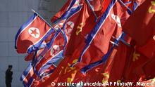 Nordkorea Flaggen