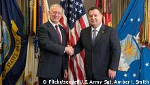 USA Washington - James N. Mattis und Stepan Poltorak