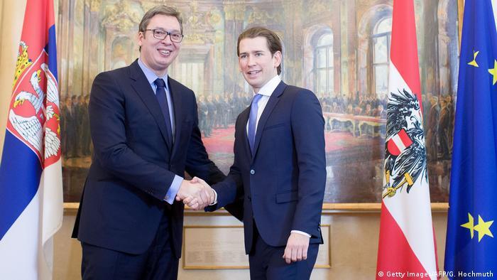 Aleksandar Vučić i Sebastian Kurz