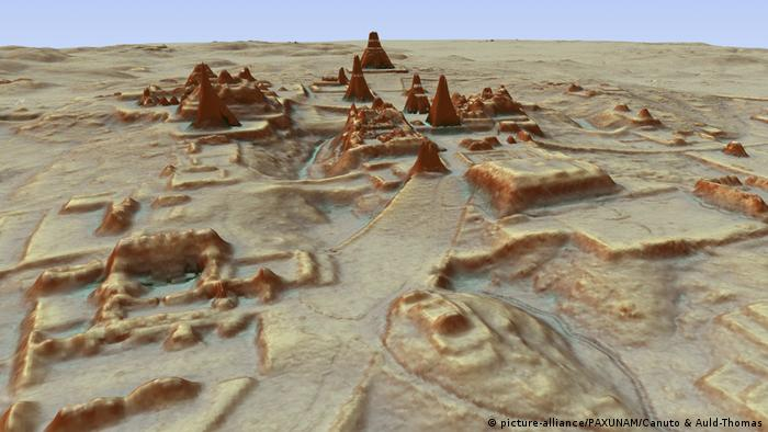 A visualization of Guatemala's rediscovered Mayan city ruins