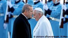 Türkei Erdogan und Papst Franziskus