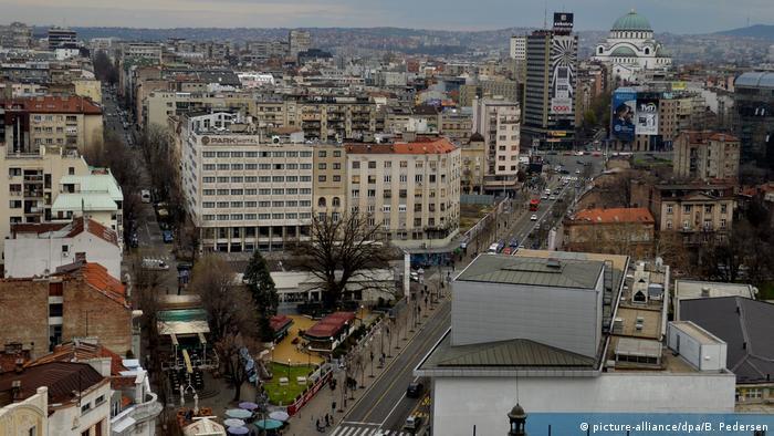Serbien Belgrad Stadtansicht
