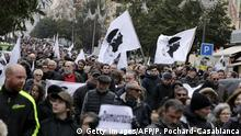 03.02.2018 People wave flags during a demonstration calling for greater dialogue and negotiations between France and Corsica on February 3, 2018 in Ajaccio, on the French Mediterranean island of Corsica. Corsican leaders believe a large demonstration held on February 3 will push France's president in better negotiations for the island. / AFP PHOTO / Pascal POCHARD-CASABIANCA (Photo credit should read PASCAL POCHARD-CASABIANCA/AFP/Getty Images)