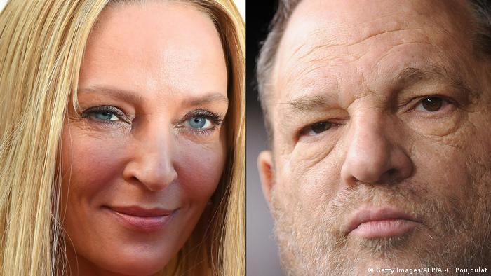 Uma Thurman und Harvey Weinstein (Getty Images/AFP/A.-C. Poujoulat)