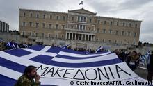 Griechenland Athen Demonstration wegen Namensstreit mit Mazedonien