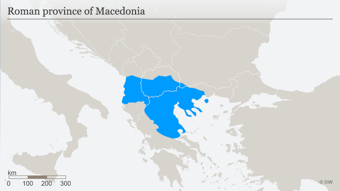Map of Macedonia as a Roman province ENG