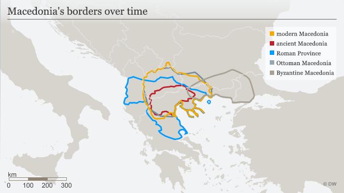 Macedonia's borders over time ENG