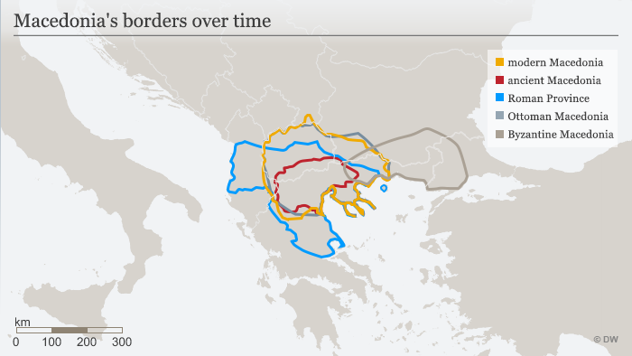 Macedonia's borders over time ENG