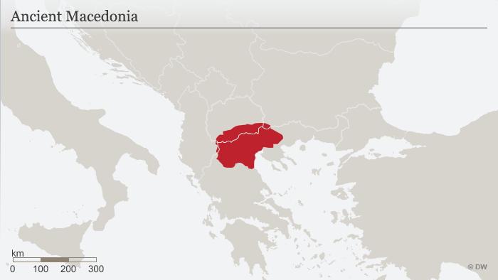 Karte Mazedonien im Altertum ENG