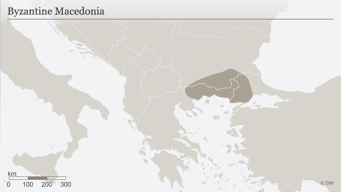 Map of Macedonia in Byzantine times ENG