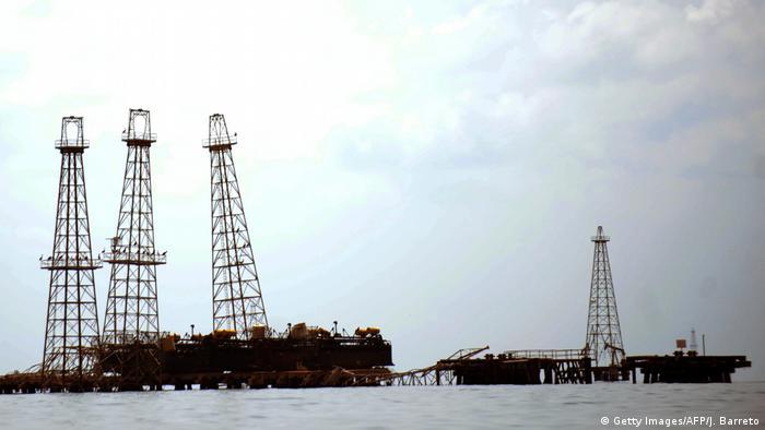 An oil rig in western Caracas