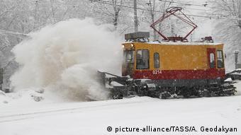 Moskau Winter Schneefall