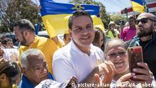 SAN JOSE , COSTA RICA - FEBRUARY 4: Fabricio Alvarado from Restaruaracion Nacional is seen with supporters during 2018 Presidential Election in San Jose, Cost Rica on February 4, 2018. Arnoldo Robert / Anadolu Agency |