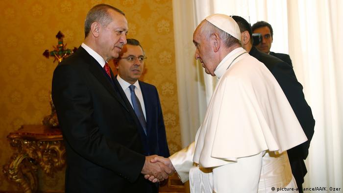 Vatikan Papst Franziskus empfängt Erdogan