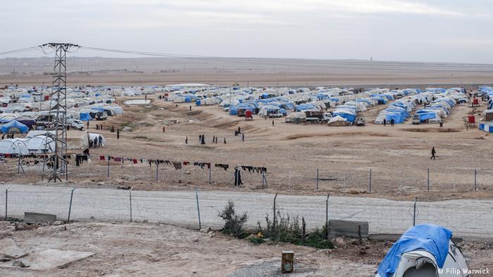 مخيم اللاجئين عين عيسى في الرقة السورية