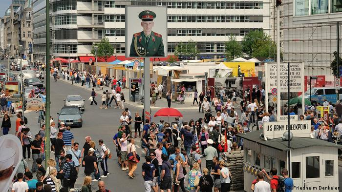 The former Checkpoint Charlie today - Architecture Biennial Venice, 2018 Checkpoint Charlie