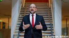 Martin Schulz bei den Koalitionsverhandlungen zwischen SPD und Union