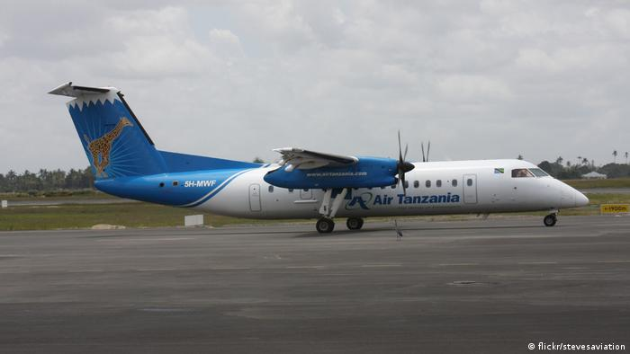 An Air Tanzania plane on the runway (flickr/stevesaviation)