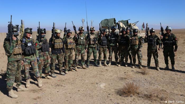 Afghanistan Armee-Kommandoeinheit während eines Trainingsprogramms